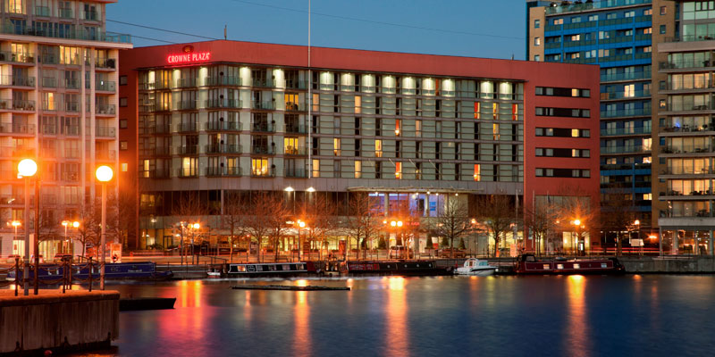 the crowne Plaza docklands London